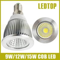10PCS E14 CREE dimmable 9w/12w/15w High power led COB Spot Light 85-265V warm/cool white replace 30w/50w/70w Halogen lamp