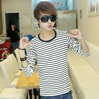 Navy style shirt navy style long-sleeve men's clothing t-shirt male lovers stripe shirt basic shirt