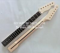 Factory sale Guitar parts Tele guitar neck Nitro satin finish Nature color Canadian maple tele neck replacement 22 fret