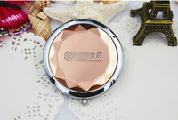 FREE SHIPPING+Wedding Favors and Gift Crystal Cosmetic Mirror Makeup Mirrors Pink Compact Mirrors+100pcs/lot