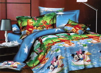Pillowcase ! Winnie the Pooh,3D bedding sets,King size 4 Pcs of duvet cover bed sheet pillowcase, bedclothes