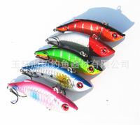 new 5pcs/lot vib Fishing lures 7cm/10g plastic artificial fishing lure sink vibrator hard bait pesca wobbler tackle swimbait