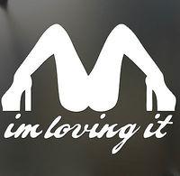 I'm loving it MD Funny Bumper Sticker JDM car window decal