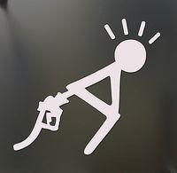 Gas prices Sticker Funny bent over fuel petrol Drift JDM Truck Car window Bumper sticker