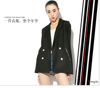 Free shipping 2014 women's trench New Fashion Women' Silm short wool blended coat Winter  GHT07