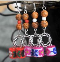 Free shipping,Tibetan silver jewelry earrings
