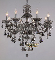 Wholesale and retail free shipping smoky glass chandelier  MD8221S