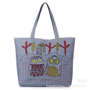 Холщовый мешок рука коносамент сумки на ремне мода сумки из совы