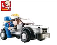 Without Origin Box Sluban Assembly blocks M38-B0350 Formula Car 2- F1 Safety Car Enlightenment Toy