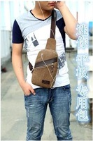 Phone man bag chest  Korean version of the new men's casual  Messenger  retro canvas  tide mini packet