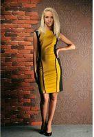 2014 summer new fashion women's clothing women's Knee-Length sleeveless dress casual round neck stitching free shipping
