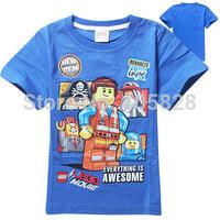 The Batman Star Wars Movie Indiana Jones Boys Tops Tees T-Shirt Kids Baby Cartoon Tshirt Children For Summer Clothing With Lego