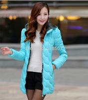 2014 winter jacket women New Slim long section of down jacket Long-sleeved hooded parkas for women M L XL XXL winter coat