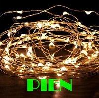 10M 12V 100 LEDs Copper Wire LED Starry light 33ft LED String Light christmas tree decor. rgb white purple blue Free shipping