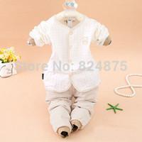 2014 New Bebe clothes set Winter autum infantil warm underwear clothes for newborns baby casual 0-3 newborn baby wear