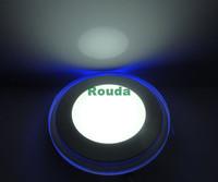 new Round Double color segmentation 12w led painel Acrylic white+blue/warm white+blue 50% off