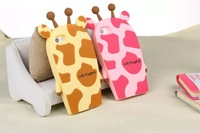 Forest Animal Cute Giraffe Silicon Protective Case For iphone 6 6 Plus, for iphone 5/5S, 4/4S Giraffe Cartoon Phone Cover