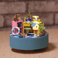 Diy music box rotating music box birthday gift wool honey child gift