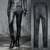 Hot sale  Those days male HARAJUKU gothic punk fashion leather pants all-match Pants longfree shipping