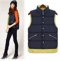 European style authentic 2014 winter new Korean yards vest cotton vest female casual jacket to wear on both sides