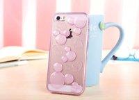 1pcs Super Cute Transparent Cartoon 3D Mickey Minnie ultra thin Soft TPU Case For iphone 6 plus For iPhone6 5.5 inch phone cases