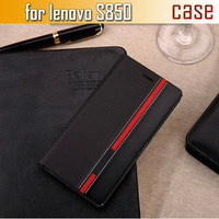 New Arrival for lenovo s850 Case Ultra thin Leather flip cover for lenovo s850t back case Free shipping