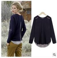 New plus size women t shirt pullovers spring autumn size M,L,XL,XXL,3XL,4XL 3COLORS women loose t shirts