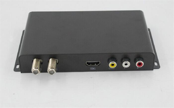 Free shipping! New! Better HD Car DVB-T2 DVB-T USB HDMI HDTV tuner 2 active antenna high speed Car DVB-T2 DVB-T box hot selling!(China (Mainland))