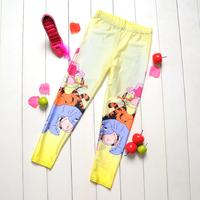 1042 yellow winne bear Digital Printing wholesale New 2014 School Child Legging Sports Pant Children Clothing Baby Girl Pants