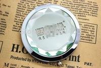 2014 NEW ARRIVAL Crystal Compact Mirror DIY LOGO Pocket Mirror Lady Favors+100pcs/lot+FREE SHIPPING