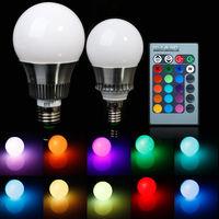 3w/5W E27/E14/GU10 RGB LED Color Changing Lamp Bulb 85-265V With Remote Control