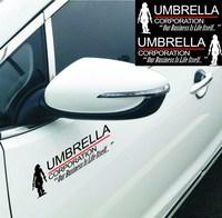 Wholesale 1pairs/lot PET Car Reflective Sticker Biochemical Crisis Umbrella Car Door Sticker