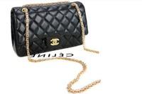 Small sweet new dual C lattice chain Shoulder Bag Handbag oblique cross packet size section