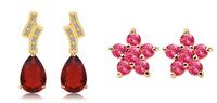 Gold-plated earrings European female fashion earrings luxurious atmosphere birthday gift
