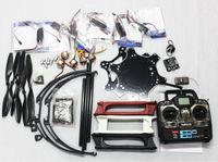 F05114-W F550 Drone FlameWheel Kit With KK 2.3 HY ESC Motor Carbon Fiber Propellers RadioLink 7CH TX RX+Tall Landing Skid PTZ FS