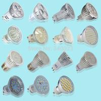 Hot Sale  Day White / Warm White New 4/8/10/12/20 LED Bulbs X 3/4/6W LED Spotlight SMD Bulbs GU10/MR16/E27 Energy Saving Bulbs