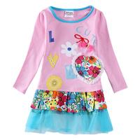 Babi Princess Nova Child Flower Girls Clothes Kids Cotton Embroidery Dress For Girl H5616