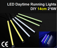 2pcs/Lot 2*6W 14cm COB LED Light DRL Daytime Running Lights Auto Lamp For Universal Car Wholesales Waterproof Free Shipping