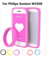 The silicone Anti-knock mobile phone case multi-function  bracelet  bumper case for Philips Xenium W3500,gift
