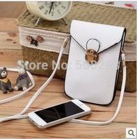 2014 Fashion Handbag PU Leather Mobile Phone Bag Mini Bags Women Shoulder Bags Coin Purse Case Wallet  W016