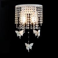 Europe 2 Light Wall Fashion Crystal+resin angel Wall Lamp Modern Brief aisle lights bar lamps E14 base led bedroom lightting