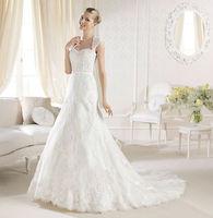 Custom Made 2014 New Design A line Backless Sweetheart Lace Bridal Gown vestido de noivas Wedding Dresses Free Shipping