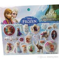 Wholesale - 2014 New Arrival Frozen Sticker 15*17cm 157g Coated Paper 3D PVC Cat Eye Frozen Elsa Anna Sponge Stickers Frozen Ola