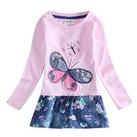 Girls Dress 2014 new Butterfly Print Dress Kids Girls Casual Dress Nova Kids All for children clothing and accessories