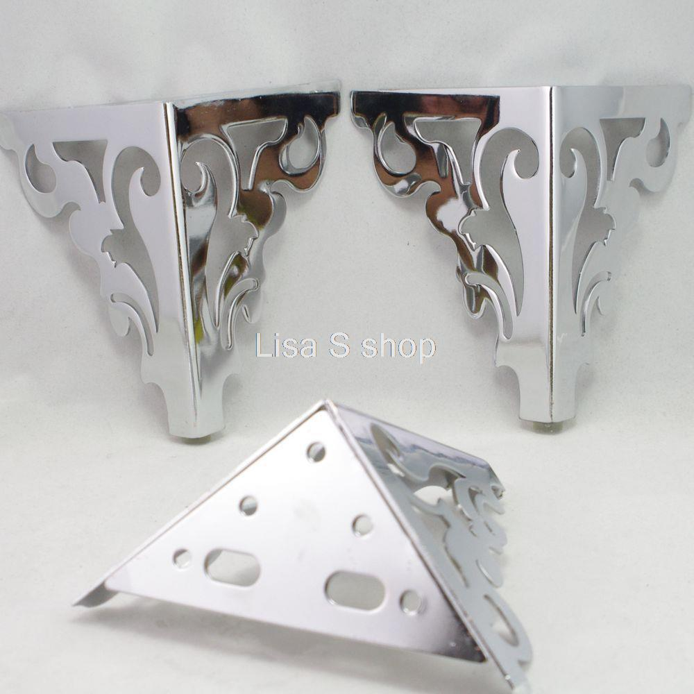 "Set Metal Furniture Cabinet Legs Bed Tea Table Chair Sofa Leg Feet 4pcs 6""(China (Mainland))"