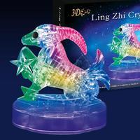 New 3D Crystal Blocks Puzzle Flashing Horoscope Puzzle Flash Capricorn Educational Toys Christmas Kid's Present New Year Gift