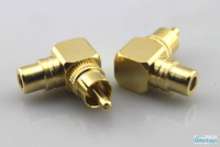 RCA Male to Female HIFI AV Amplifier Speakers RCA Subwoofer Right Angle Adapters 24K Gold-plated Pure Copper DIY Free Shipping