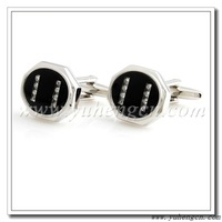 Free shipping YH-1351C Fashion Crystal with Colored Glass Luxury Cufflinks- Factory Direct Selling