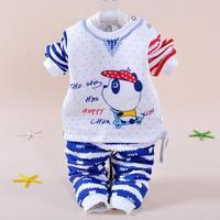 Winter new baby girl clothing set 2014 thermal Underwear Set 4-6-19-24 months Cotton Warm child Infants kids clothes sets autumn