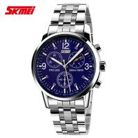 2014 skmei 9070 Men Luxury Brand New Military Sports Quartz Fashion  Full Stainless Steel Wristwatches